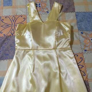 Long Yellow Gown