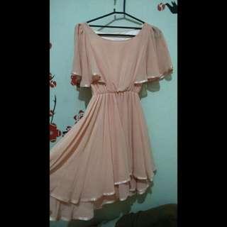 Dress 👗 Soft Peach