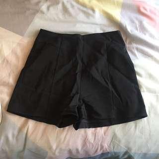 black dress shorts