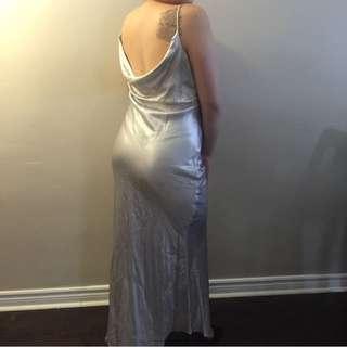 LONG SILKY EVENING DRESS