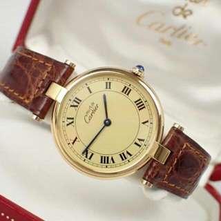 Vintage must de Cartier Vermeil 925 Gold Plated