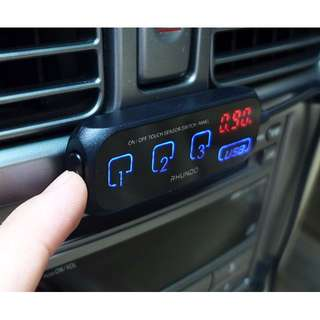 Port & USB Car Charger @ Touch Sensor Switches & Display