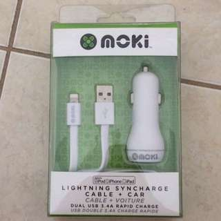 Moki iPhone Cable + Car