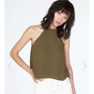 TCL Maralyn Top In Olive In Size L
