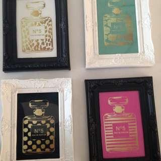 Set Of 4 Chanel Prints