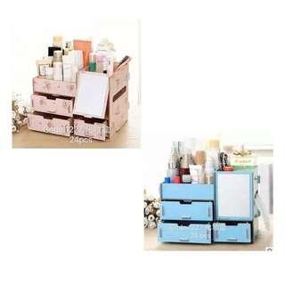 DIY Wood Storage/ Makeup Organizer