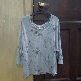 Pre-loved Forever 21 Gray Floral Sweater