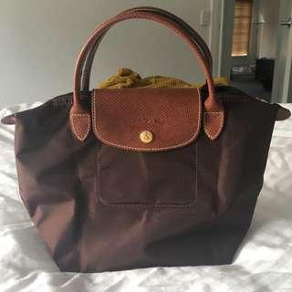 Longchamp Le Pliage chocolate small bag