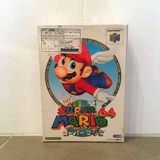 Original Packaging Super Mario 64 For Nintendo 64 (Japanese)