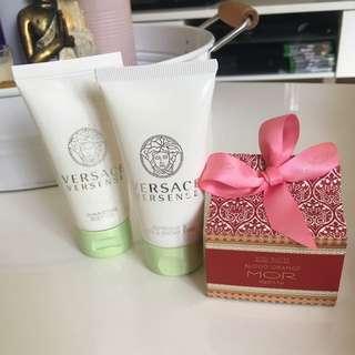 Mor Body Butter, Versace Body Shimmer And  Shower Gel