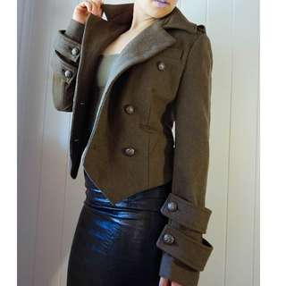 WITCHERY SZ 10 MILTARY JACKET WOOL