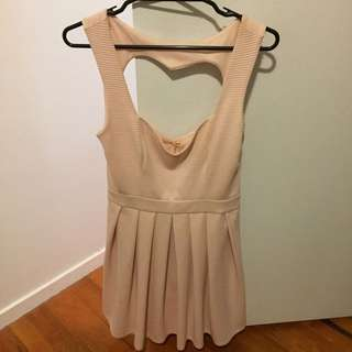 Pink Heart Back Dress