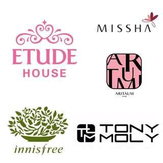 代購 / 韓國美妝 各品牌 Etude House Missha Innisfree Tonymoly Apieu 韓系