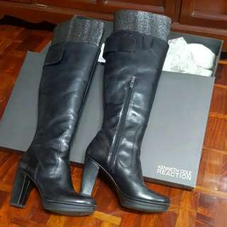 Kenneth Cole Knee Leather Boots