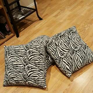 Zebra Print Throw Cushions