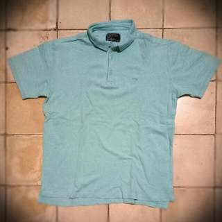 Aqua Blue Polo Shirt Fit L