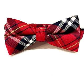 {{MARK DOWN}} Checkered Bow Tie - Red