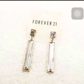 INSTOCK BNIP F21 Crystal DANGLING Earrings