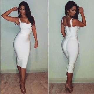 White Bandage Dress Size 6/XS