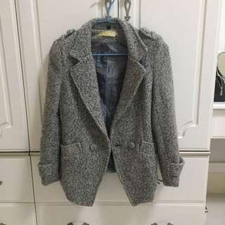 羊毛西裝大衣