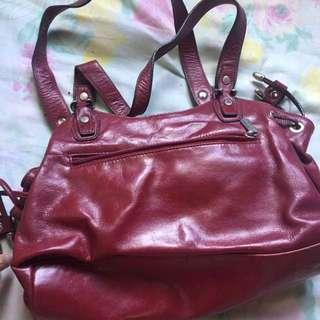 Authentic Red Hexagona Shoulder/Hand Bag