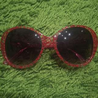 Clear Sunglasses With Red Lines - Lyn Around