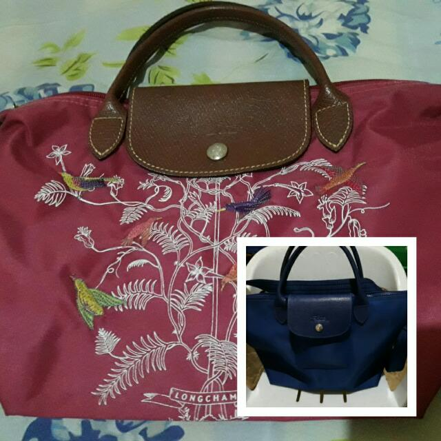 2 Pre-loved Authentic Longchamp NEO & Tree Of Life