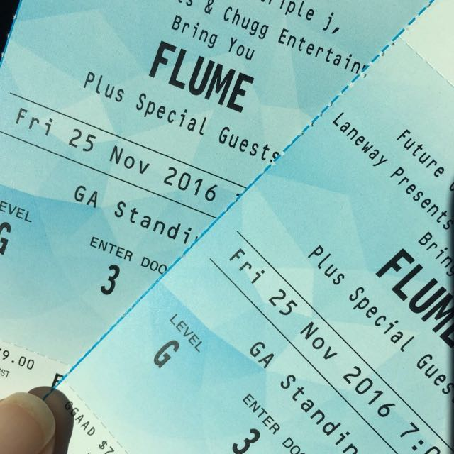 2x FLUME Standind Tickets perth