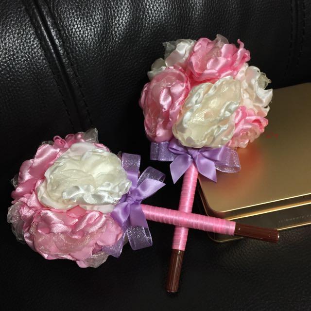 可愛手工粉色系簽名筆