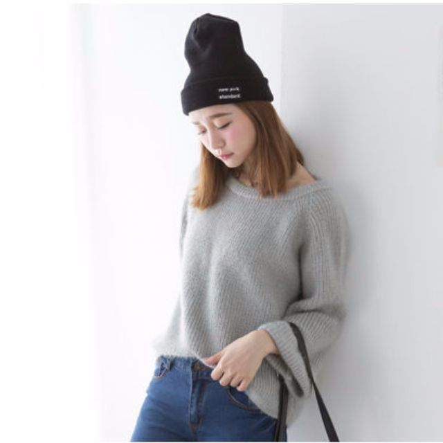 反摺袖針織毛衣