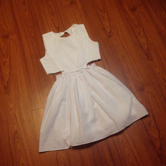 正韓 白色洋裝