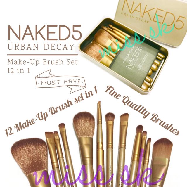 [ isi 12 kuas ] NAKED 5 brush kaleng 12 in 1/Make up brush set naked5, Olshop Fashion, Olshop Produk Kecantikan on Carousell