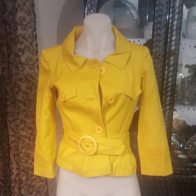 Bardot Mustard Yellow Jacket 8 New