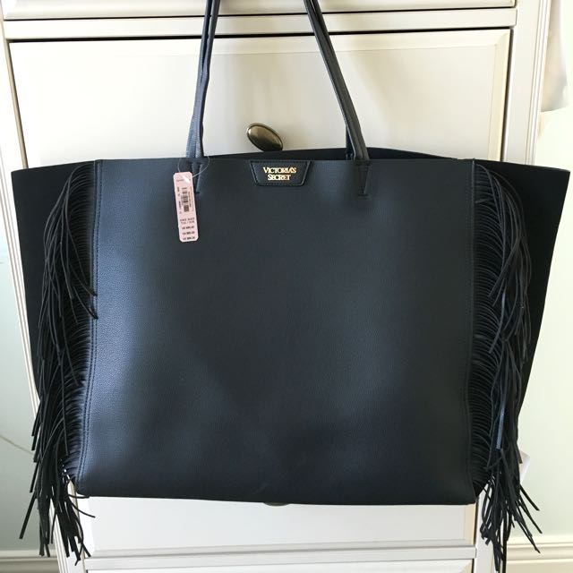 Black Fringe Bag - Victoria Secret