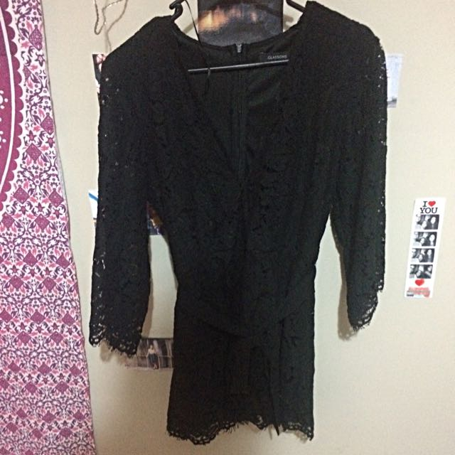 Black Lace Jumpsuit (glassons)