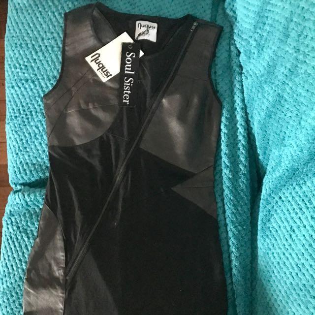 BNWT August Street Black Dress