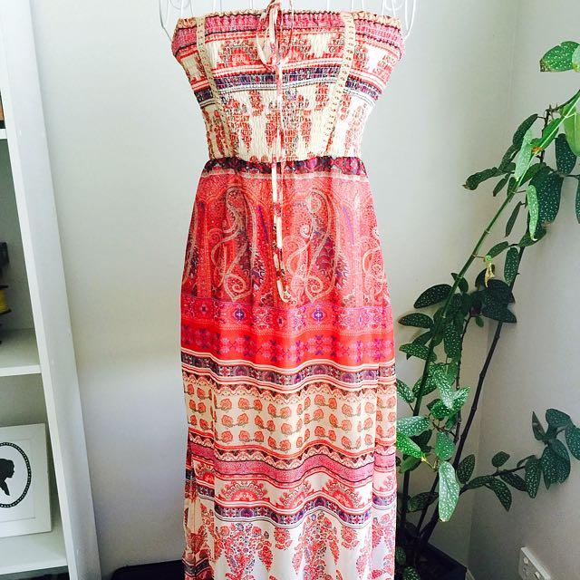 Boho Hippy Bandeau style long dress
