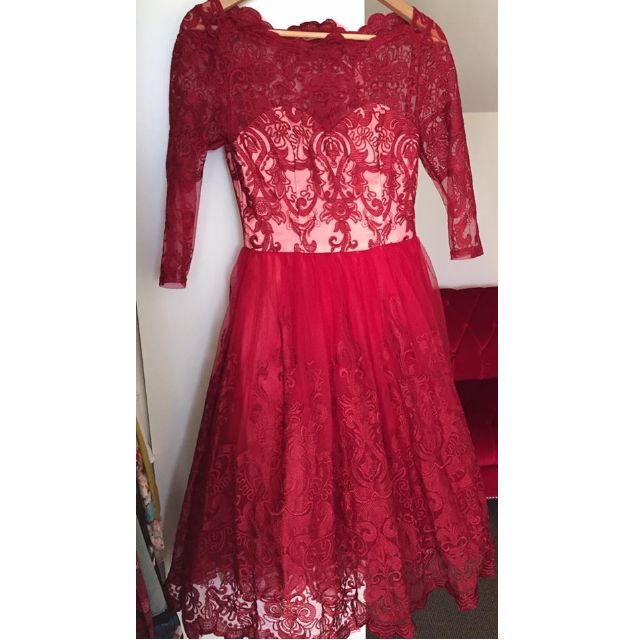 Chi Chi London Vintage Red Dress
