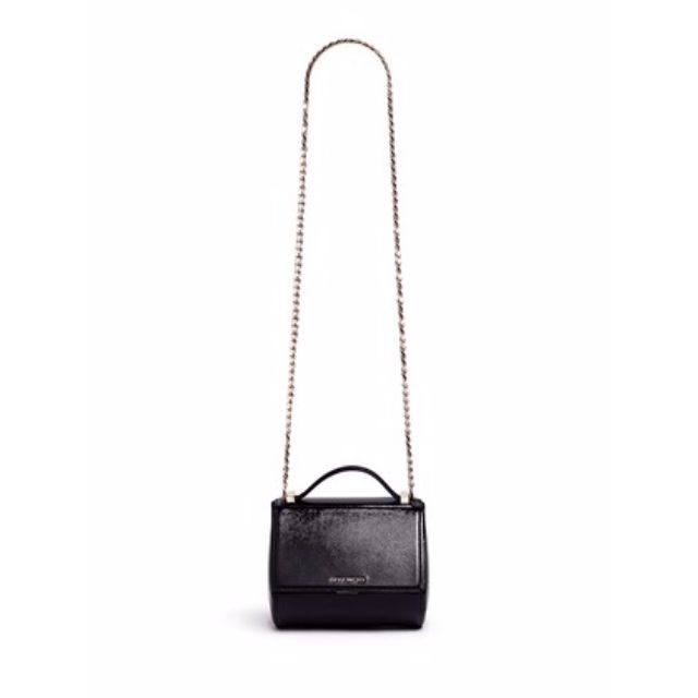 GIVENCHY  PANDORA BOX  MINI SAFFIANO PATENT LEATHER CHAIN BAG ... ee9adf0472b40