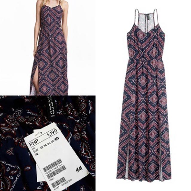 H & M Patterned Long Dress