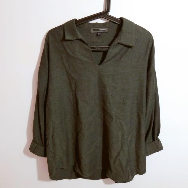 H:CONNECT 墨綠長袖上衣