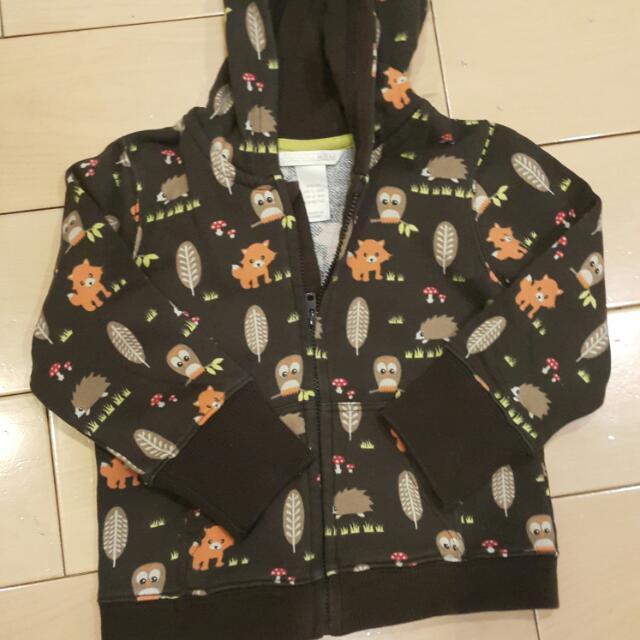 H&M Owl Jacket 12 to 18mo