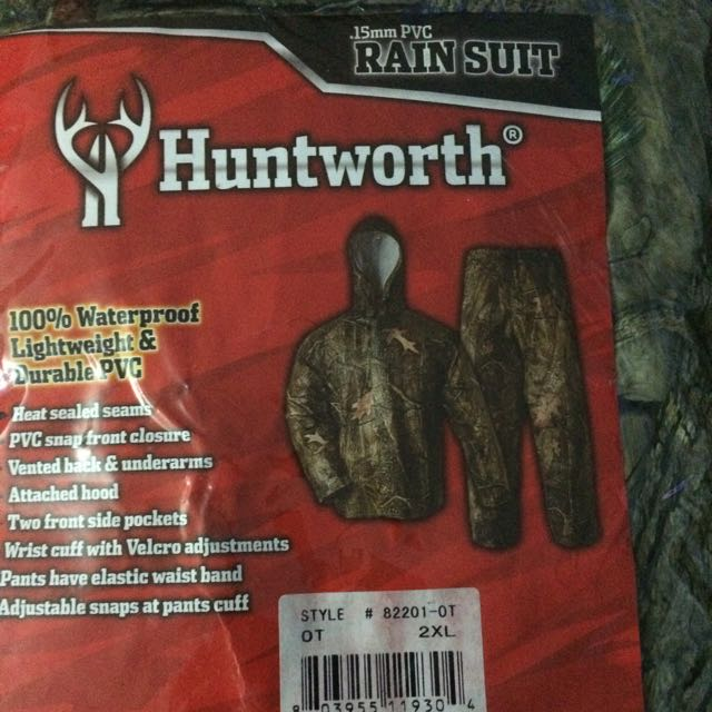 Huntworth Camo Rain Suit