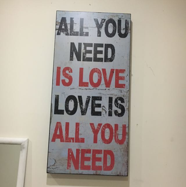 Large Quote Wall Wood Canvas