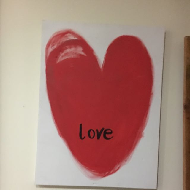 """""""love"""" Painted Canvas"""