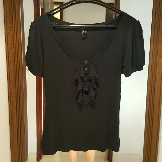 Mango Dark Green Top