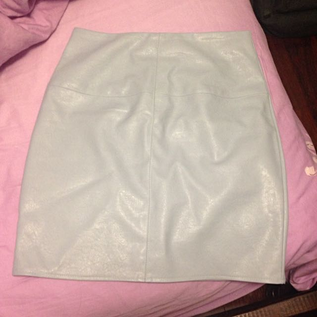Missguided Leather Look Skirt