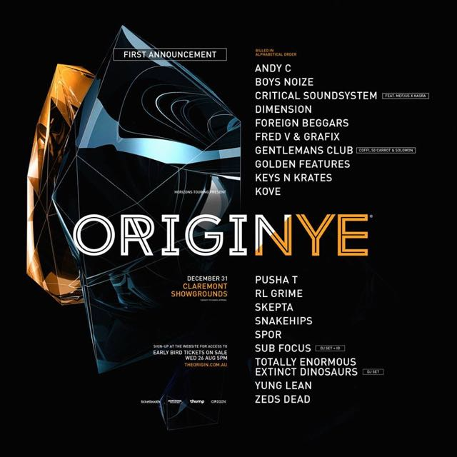 origin nye - perth