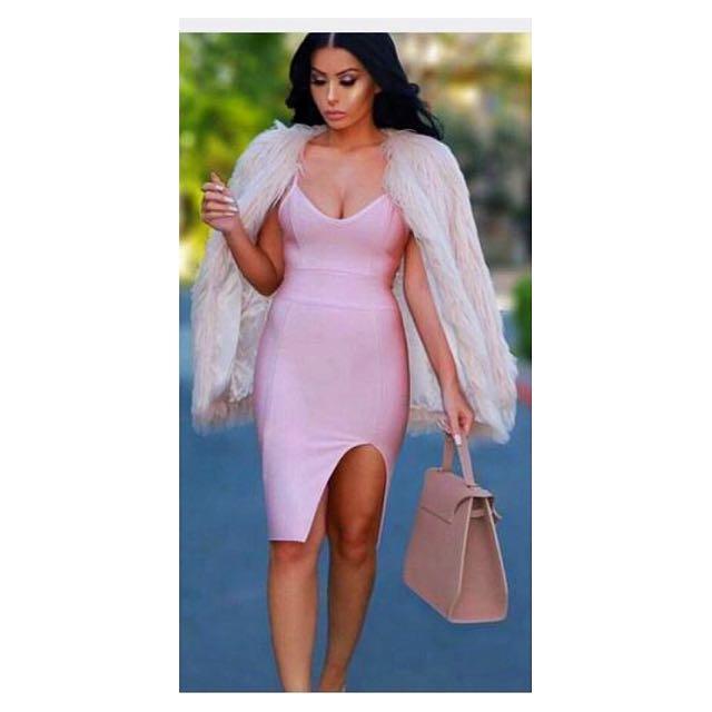 Pink Bandage Dress Size 6/XS