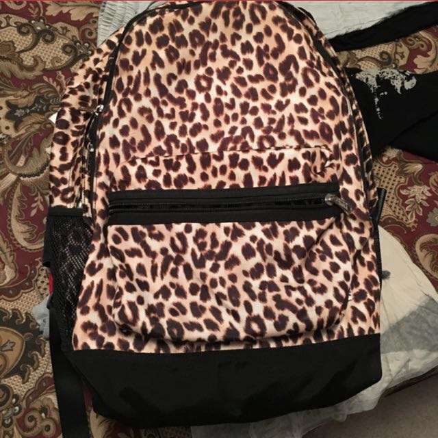 Pink Cheetah Backpack